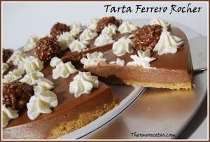 Receta Postres Thermomix Tarta de Ferrero Rocher