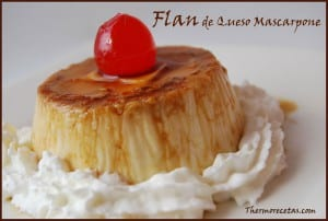 receta Postres thermomix Flan de queso mascarpone