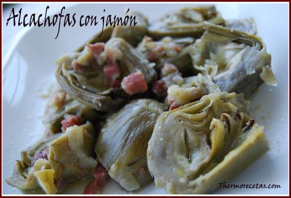 receta thermomix alcachofas con jamón