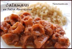 Receta thermomix calamares en salsa americana
