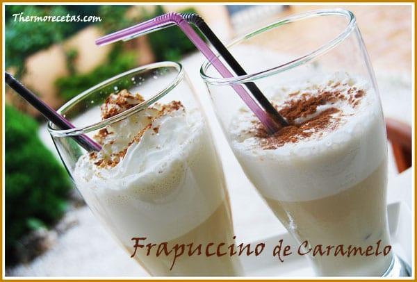 REceta postres thermomix frapuccino de caramelo