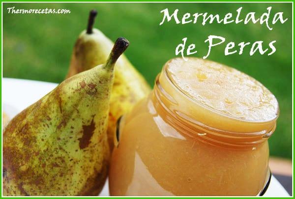 REceta thermomix mermelada de peras