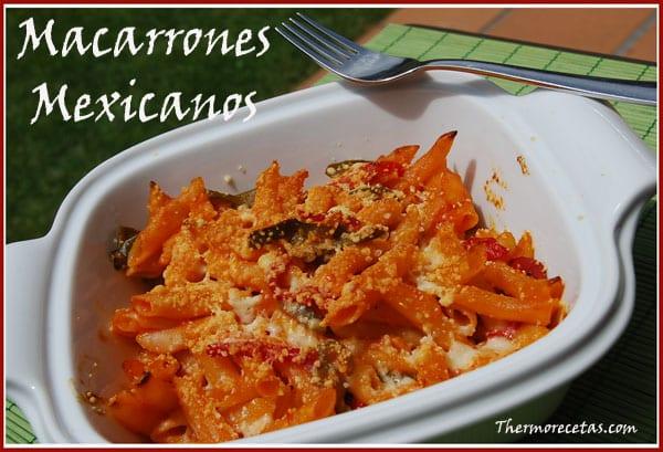 receta facil thermomix macarrones mexicanos