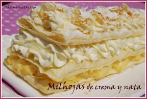 receta postres thermomix milhojas de crema y nata