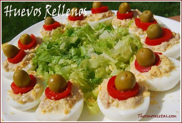 Receta Thermomix Huevos Rellenos