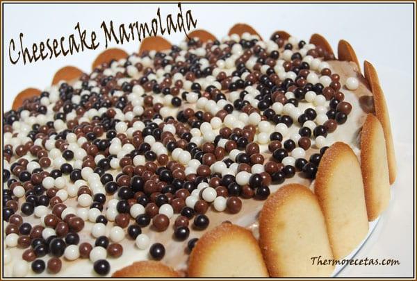 receta postres thermomix cheesecake marmolado