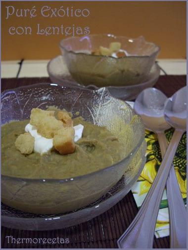 puré con lentejas, jengibre, curry y leche de coco!!