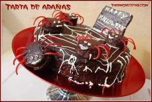 receta postres thermomix halloween tarta de arañas