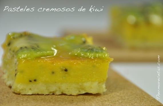 Pasteles cremosos de kiwi