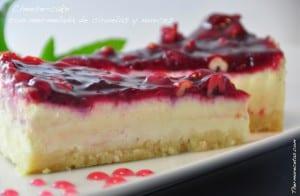 Cheese-cake de mermelada de ciruelas y nueces