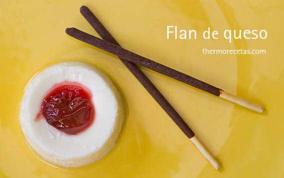 Flan de queso con Thermomix