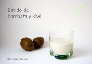 Batido de horchata y kiwi