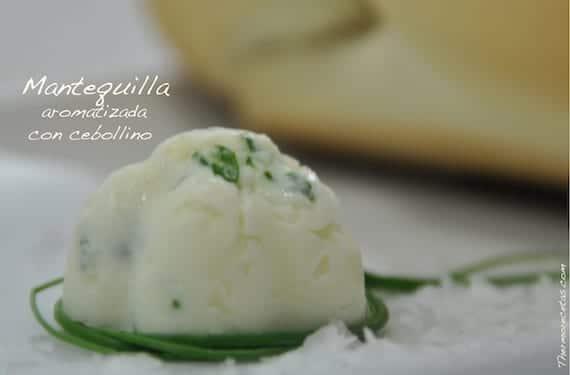 Mantequilla aromatizada con cebollino