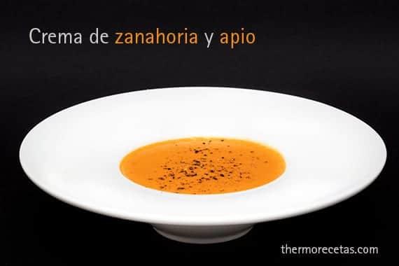 sopa con apio zanahoria