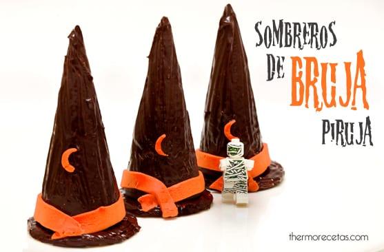 sombreros de bruja Sombreros de bruja de chocolate