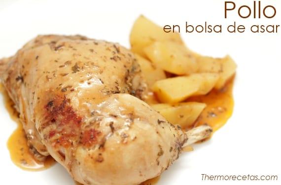 Pollo con patatas en bolsa de asar