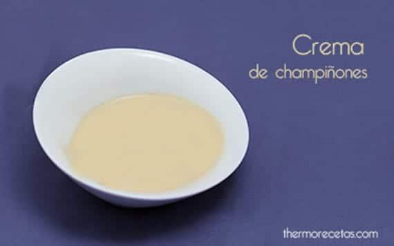Crema de champìñones