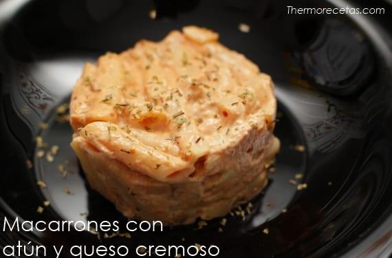 Macarrones con atún y queso cremoso