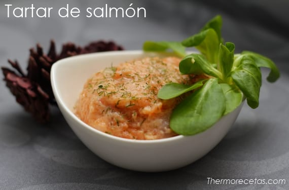 Tartar de salmón fresco