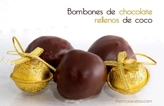 Bombones de chocolate rellenos de coco
