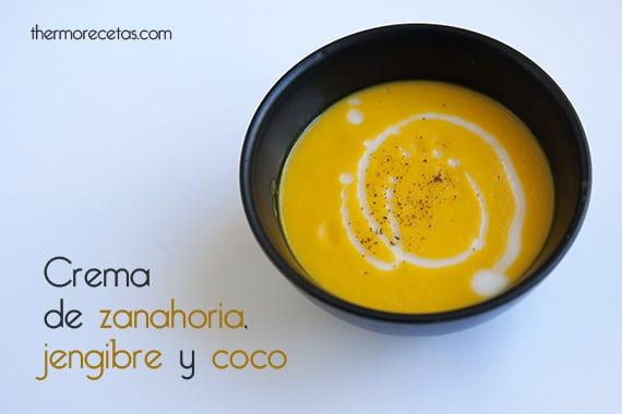 Crema de zanahoria, jengibre y leche de coco