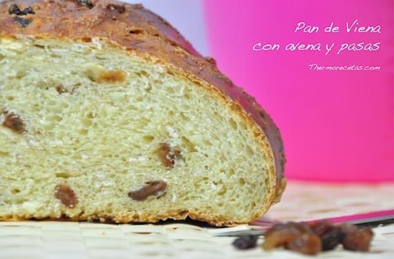 Pan de Viena con avena y pasas