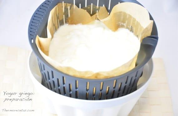 Yogur griego preparación