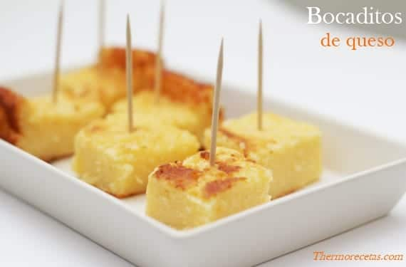 Bocaditos de queso en Thermomix