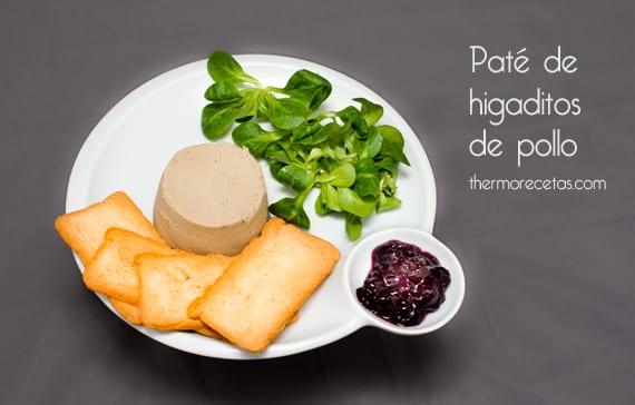 Paté de higaditos de pollo (foie de pollo) con Thermomix