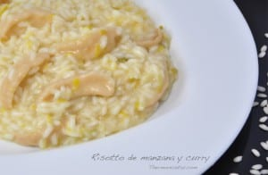Risotto con manzana y curry