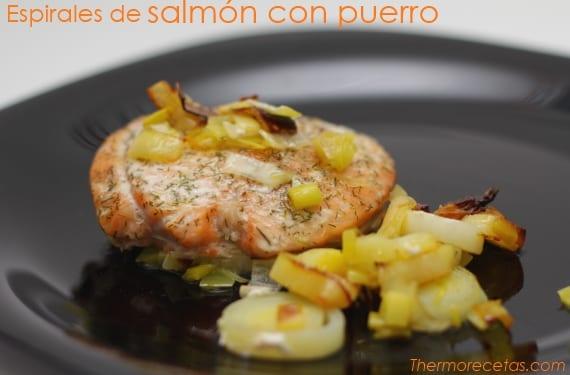 Espirales salmón puerro