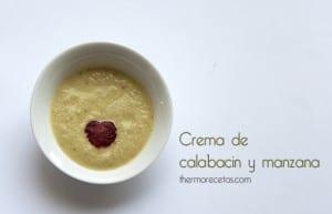 Crema de calabacín y manzana