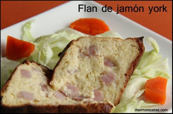 Flan de jamón york hecho con Thermomix