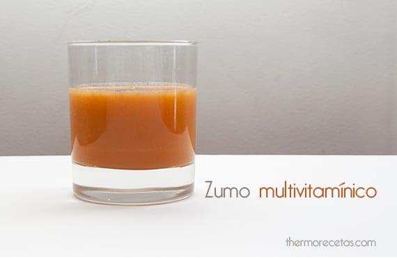 Zumo de zanahoria multivitamínico thermomix