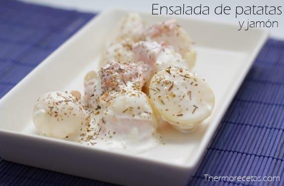 Ensalada blanca de patatas y jamón