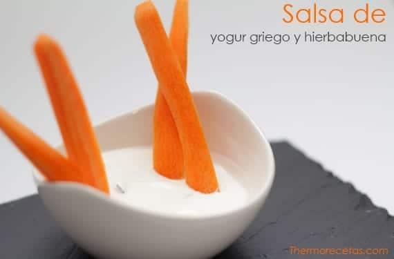 Salsa de yogur y hierbabuena