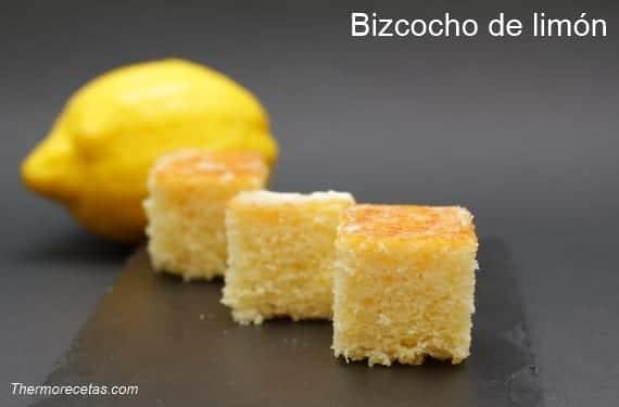Receta de bizcocho de limón con Thermomix, delicioso y muy jugoso