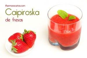 coctel caipirosca de fresas