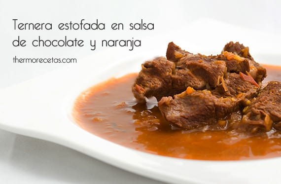 Ternera con salsa de chocolate