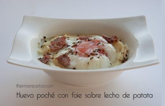Huevo poche con foie