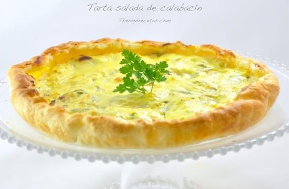 Tarta salada de calabacín