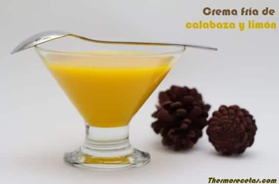 crema fria calabaza limón