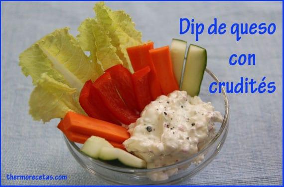 dip-de-queso-con-crudités-thermorecetas