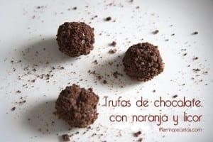 Trufas de chocolate con naranja