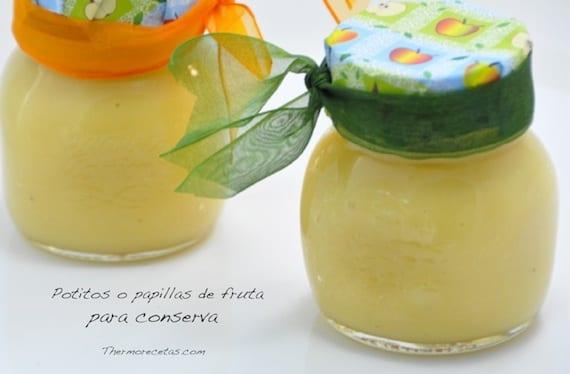 Potitos Para Bebés O Papillas De Fruta Con Thermomix Thermorecetas