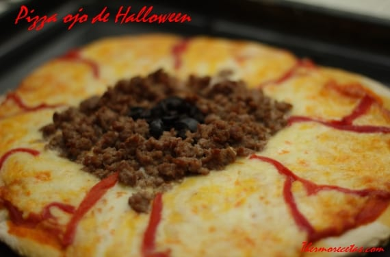 Pizza ojo halloween Pizza ojo de Halloween