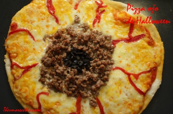 Pizza ojo halloween2 Pizza ojo de Halloween