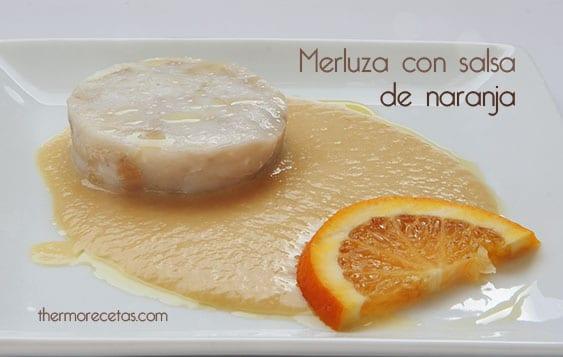 Merluza con salsa de naranja