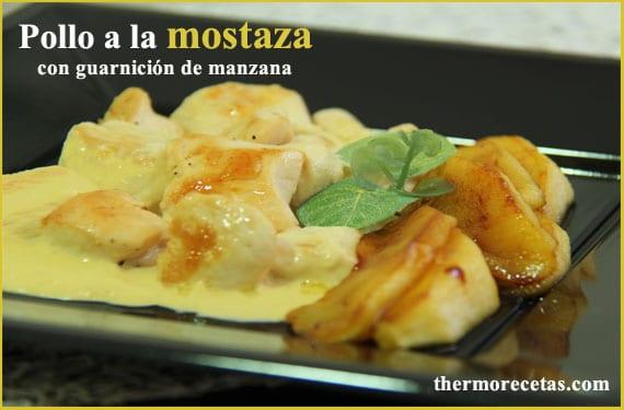 pollo-a-la-mostaza-con-guarnición-de-manzana-thermorecetas