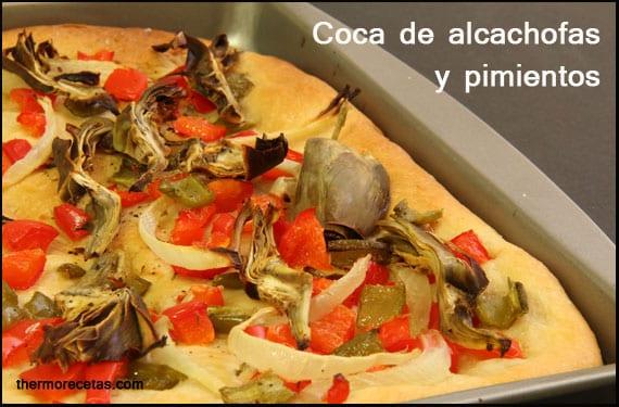 coca-de-alcachofa-y-pimientos-thermorecetas